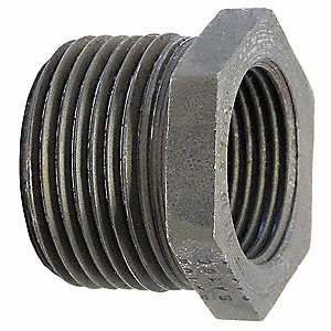 "Hex Bushing, MNPT x FNPT, 4"" x 2-1/2"" Pipe Size - Pipe Fitting"