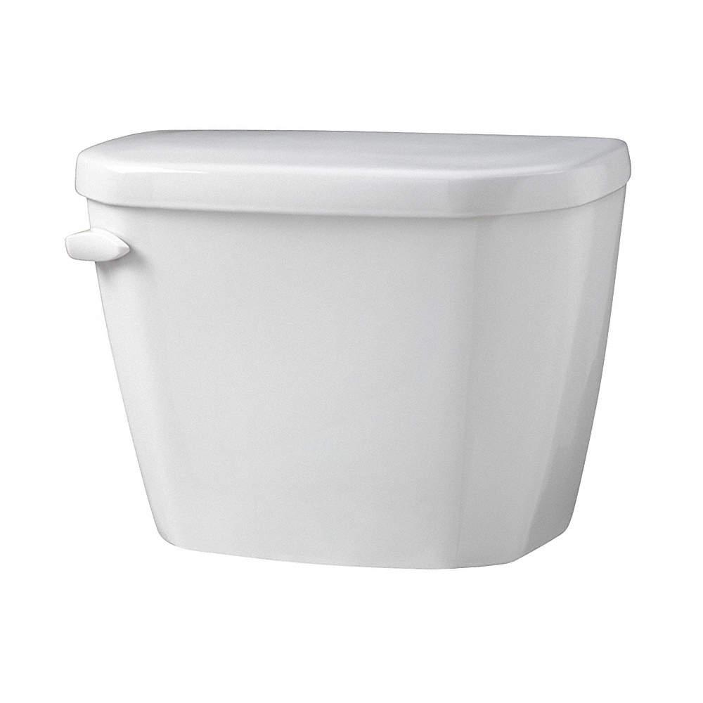 GERBER Viper 1.28 gpf Toilet Tank, Left Hand Trip Lever, White ...