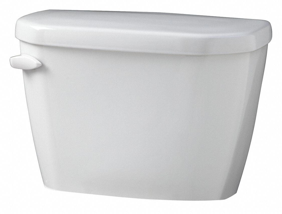 GERBER Viper 1.6 gpf Toilet Tank, Left Hand Trip Lever, White ...