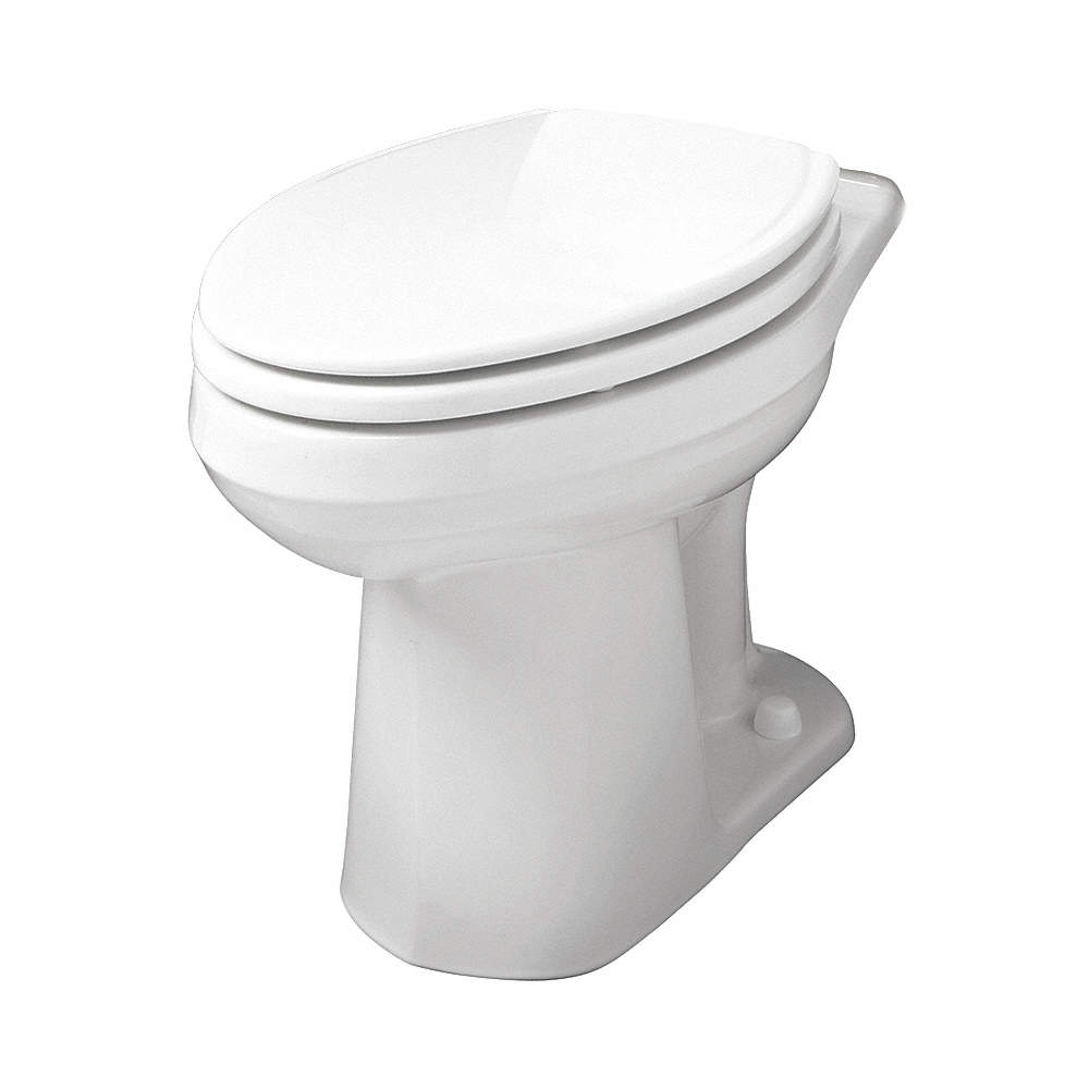 GERBER Toilet Bowl, Floor Mounting Style, Elongated, 1.10/1.60 ...