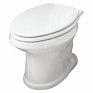 Toilet Bowl, Floor Mounting Style, Elongated, 1.10/1.60 Gallons per Flush