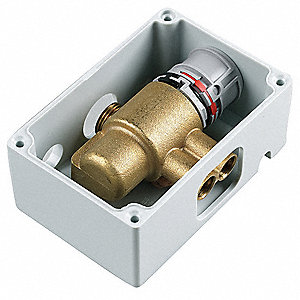 Thermostatic Mixing Valve,Brass,70 psi