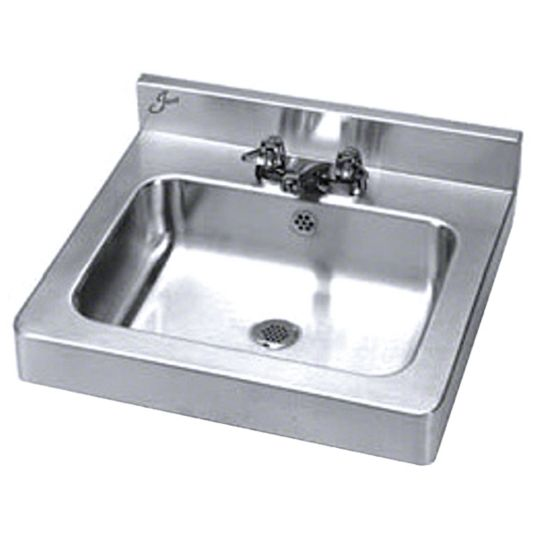 Just Manufacturing Just Manufacturing Lavatory Group Series 16 In X 11 1 2 In Stainless Steel Bathroom Sink 29vm75 A 33338 T Grainger