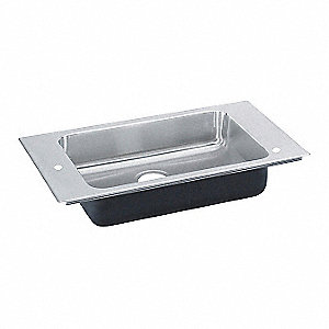 Stainless Steel Drop-In Classroom Sink, Without Faucet, Drop In Mounting Type, Stainless Steel