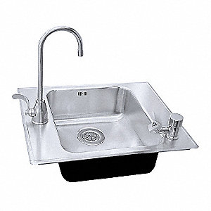 Stainless Steel Classroom Sink, With Faucet, Drop In Mounting Type, Stainless Steel