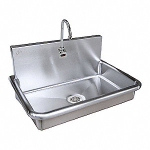 Stainless Steel Bathroom Sink, With Faucet, Wall Mounting Type, Stainless  Steel