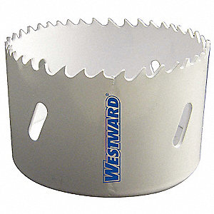 "3-1/4""-Dia. Hole Saw for Wood, 1-1/2"" Max. Cutting Depth, 4/6 Teeth per Inch"
