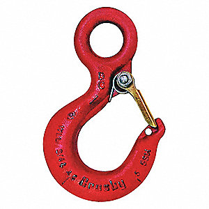 Eye Hook,Carbon Steel,20,000 lb.,Red