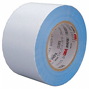 "3"" x 36 yd. Cloth Tape, White, Package Quantity 12"