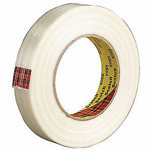 360 yd. 6.90 mil Film Filament Tape, Clear, 8 PK