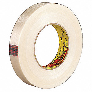 60 yd. 7.70 mil Polypropylene Film Filament Tape, Clear, 48 PK