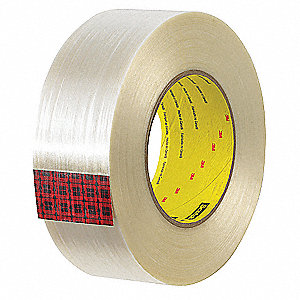 60 yd. 7 mil Polypropylene Film Filament Tape, Clear