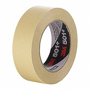 Paper Masking Tape, Rubber Tape Adhesive, 6.70 mil Thick, 36mm X 55m, Tan, 24 PK