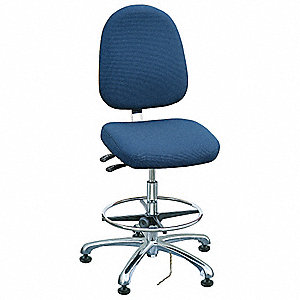 "Fabric Ergonomic Chair with 21-1/2"" to 31-1/2"" Seat Height Range and 300 lb. Weight Capacity, Navy"