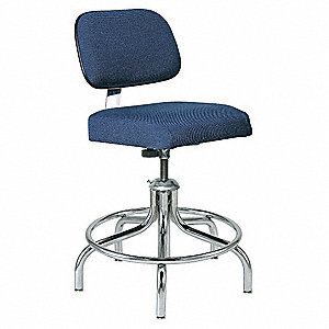"Fabric Ergonomic Chair with 19"" to 24"" Seat Height Range and 300 lb. Weight Capacity, Navy"