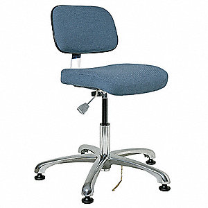 "Fabric Ergonomic Chair with 15-1/2"" to 21"" Seat Height Range and 300 lb. Weight Capacity, Slate Blue"