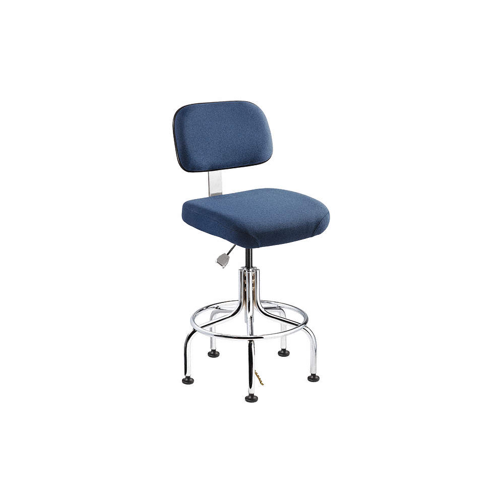 Fine Fabric Ergonomic Esd Task Chair With 20 To 25 Seat Height Range And 300 Lb Weight Capacity Navy Ibusinesslaw Wood Chair Design Ideas Ibusinesslaworg