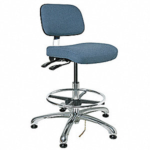 "Fabric Ergonomic Chair with 19"" to 26-1/2"" Seat Height Range and 300 lb. Weight Capacity, Slate Blue"