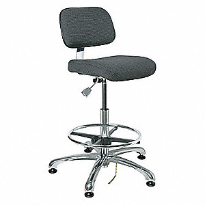 "Fabric Ergonomic Chair with 21-1/2"" to 31-1/2"" Seat Height Range and 300 lb. Weight Capacity, Gray"