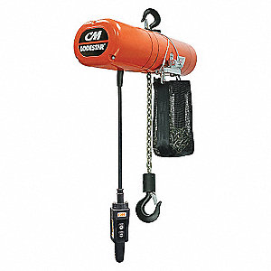 CHAIN HOIST 1T 20FT 16FPM 115V