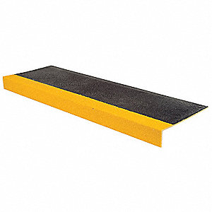 Stair Tread,Yellow/Black,59in W