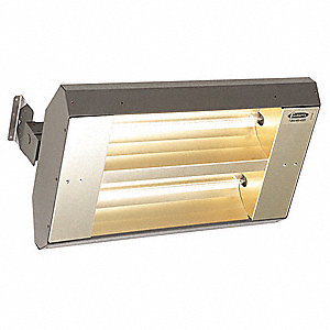 Electric Infrared Heater, Indoor, Outdoor, Ceiling/Suspended, Voltage 208, Watts 3200