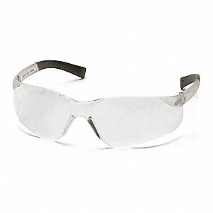 Mini Ztek Scratch-Resistant Safety Glasses, Clear Lens Color