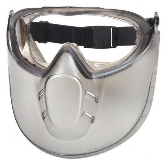 Anti-Fog, Anti-Static, Scratch-Resistant Indirect Goggles and Faceshield, Clear Lens