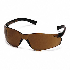 Ztek Scratch-Resistant Safety Glasses, Coffee Lens Color