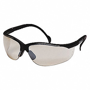 Venture II Scratch-Resistant Safety Glasses, Indoor/Outdoor Mirror Lens Color