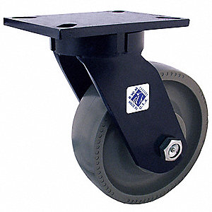 "6"" Medium-Duty Kingpinless Swivel Plate Caster, 2000 lb. Load Rating"