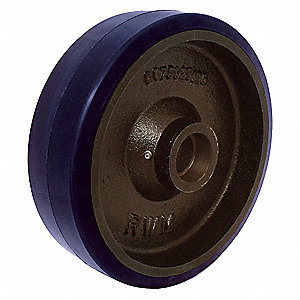 "8"" Caster Wheel, 1800 lb. Load Rating, Wheel Width 2-1/2"", Polyurethane, Fits Axle Dia. 3/4"""