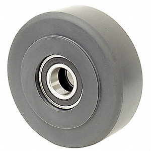 "6"" Caster Wheel, 2200 lb. Load Rating, Wheel Width 2"", Nylon, Fits Axle Dia. 1/2"""