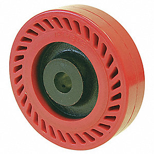 "8"" Caster Wheel, 1200 lb. Load Rating, Wheel Width 2"", Polyurethane, Fits Axle Dia. 1/2"""