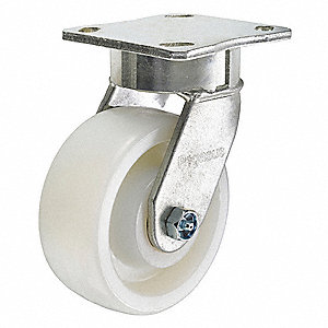 "6"" Medium-Duty Kingpinless Swivel Plate Caster, 1500 lb. Load Rating"