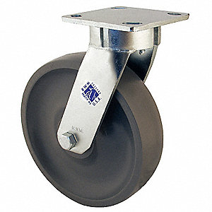 "4"" Light-Medium Duty Kingpinless Swivel Plate Caster, 800 lb. Load Rating"