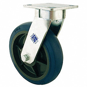 "6"" Light-Medium Duty Kingpinless Swivel Plate Caster, 600 lb. Load Rating"
