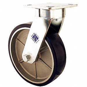 Kingpinless Swivel Plate Caster,1050 lb.