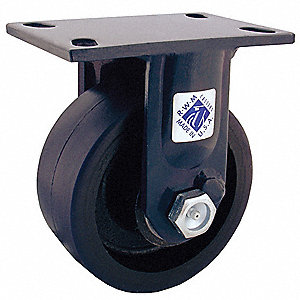 "6"" Medium-Duty Rigid Plate Caster, 2000 lb. Load Rating"
