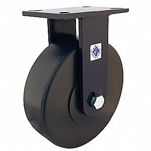 "6"" Heavy-Duty Rigid Plate Caster, 3000 lb. Load Rating"