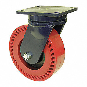 "6"" Extra Super Duty Kingpinless Swivel Plate Caster, 10,000 lb. Load Rating"