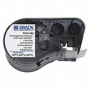 "Label Cartridge, Black/White, 2""W x 1"""