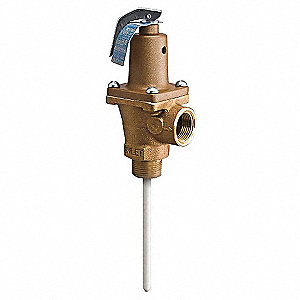 Temperature Pressure Relief Valve,125psi