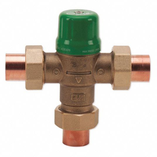 Taco 1 2 In Union Sweat Inlet Type Mixing Valve Forged Brass 1 To 14 Gpm 29ym42 5122 C2 Grainger