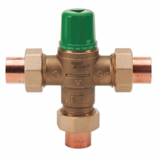 Taco 1 2 In Union Sweat Inlet Type Mixing Valve Forged Brass 1 To 20 Gpm 29ym44 5002 C3 Grainger