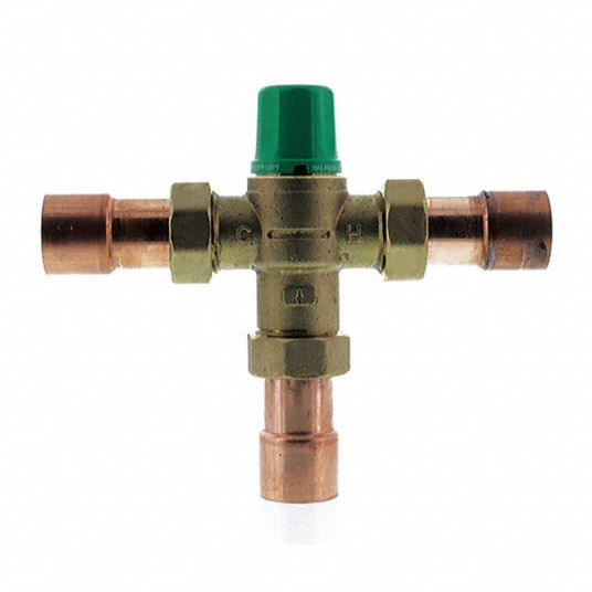 Taco 1 In Union Sweat Inlet Type Mixing Valve Forged Brass 1 To 20 Gpm 29ym46 5004 C3 Grainger