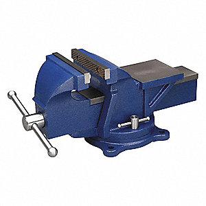 "Heavy Duty Combination Vise, 6"" Jaw Width, 6"" Max. Opening, 3"" Throat Depth"