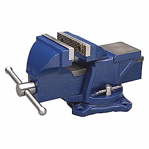 "Heavy Duty Combination Vise, 4"" Jaw Width, 4"" Max. Opening, 2-1/4"" Throat Depth"