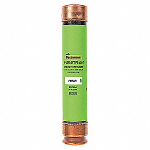 50A Time Delay Fiberglass Fuse with 600VAC/250VDC Voltage Rating; FRS-R Series