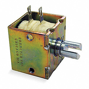 "Solenoid, 24VDC Coil Volts, Stroke Range: 1/16"" to 1/2"", Duty Cycle: Continuous"